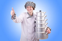 Cozinheiro com a pilha de potenciômetros Foto de Stock