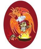 Cozinheiro - crânio ilustração do vetor