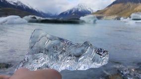 Cozinheiro da montagem do cristal de gelo em Nova Zelândia foto de stock