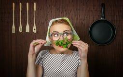 Cozinheiro da mulher Imagens de Stock Royalty Free