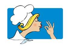 Cozinheiro da senhora Fotografia de Stock Royalty Free