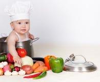 Cozinheiro do bebê Fotografia de Stock