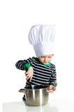 Cozinheiro do cozinheiro chefe da cozinha do bebê Imagens de Stock Royalty Free
