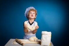 Cozinheiro do rapaz pequeno Imagens de Stock