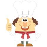 Cozinheiro dos desenhos animados com fundo branco Imagens de Stock Royalty Free