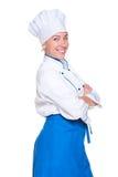 Cozinheiro dos jovens com mãos cruzadas Fotos de Stock Royalty Free