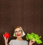 Cozinheiro engraçado da mulher Fotografia de Stock