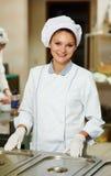 Cozinheiro fêmea do cozinheiro chefe Fotografia de Stock Royalty Free