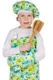 Cozinheiro futuro adorável Fotografia de Stock