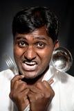 Cozinheiro indiano furioso Imagem de Stock