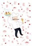 Cozinheiro italiano de sorriso Imagens de Stock Royalty Free