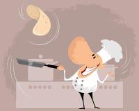 Cozinheiro na cozinha Imagens de Stock