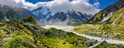 Cozinheiro National Park - Nova Zelândia da montagem Fotografia de Stock