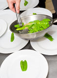 Cozinheiro no trabalho Imagem de Stock