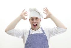 Cozinheiro principal Scared imagem de stock royalty free