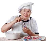 Cozinheiro sênior da mulher Fotos de Stock