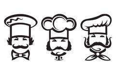 Cozinheiros chefe ajustados Imagem de Stock Royalty Free