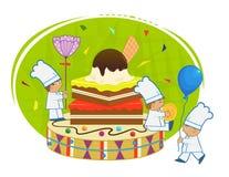 Cozinheiros chefe com brownie Imagens de Stock