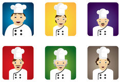 Cozinheiros chefe diferentes Foto de Stock Royalty Free