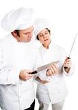Cozinheiros chefe - facas da qualidade Fotografia de Stock Royalty Free