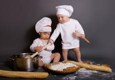 Cozinheiros chefe pequenos Fotografia de Stock