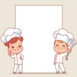 Cozinheiros chefe pequenos ilustração do vetor
