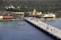 cozumel巡航码头端口 免版税库存图片