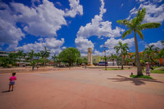 COZUMEL, ΜΕΞΙΚΟ - 23 ΜΑΡΤΊΟΥ 2017: Το μνημείο του παρατηρητηρίου plaza del sol στο SAN Miguel, Cozumel, το οποίο είναι Στοκ Εικόνες