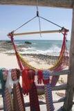 Cozumel Beach ,Mexico. Ocean waves are framed thru Royalty Free Stock Photos