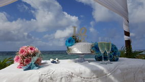 Cozumel beach wedding. Amazing pretty beach wedding Stock Photography