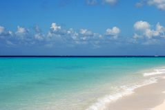 Cozumel Channel. The view of Cozumel Channel colourful waters from Cozumel island, Mexico Stock Images