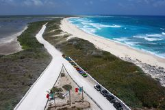 Cozumel Ecological Park. The view from the lighthouse of a swamp and the Caribbean sea  - Punta Sur Ecological park on Cozumel island, Mexico Stock Photo