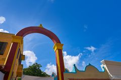 Cozumel island arch in Mexico Mayan Royalty Free Stock Photo