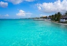 Cozumel island beach in Riviera Maya. Of Mayan Mexico Royalty Free Stock Photography