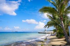 Cozumel island beach in Riviera Maya. Of Mayan Mexico Stock Image