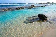 Cozumel island beach Riviera Maya Mexico. Chen Rio beach Cozumel island in Riviera Maya of Mayan Mexico stock photo