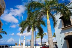 Cozumel island houses in Mayan Mexico Royalty Free Stock Images