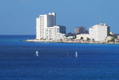 Cozumel Island Resorts. The view of resorts on Cozumel island, Mexico Stock Images