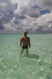 cozumel kobieta tropikalna wodna Zdjęcie Royalty Free