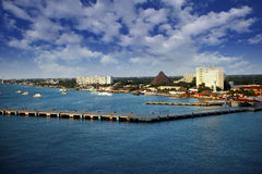 Cozumel Mexico. The colorful port of Cozumel Mexico Stock Photography