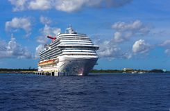 Cozumel, Mexico - May 04, 2018: The Carnival Dream cruise ship in port in Cozumel, Mexico stock image