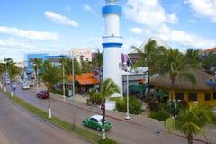 Cozumel Mexico som är karibisk Arkivbilder