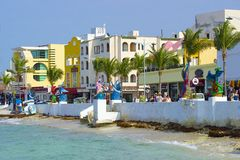 Cozumel Mexico som är karibisk Arkivbild