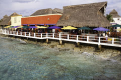 Cozumel Mexico - Waterfront Bar! Royalty Free Stock Photography