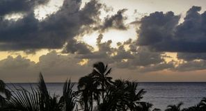 Cozumel, Mexico Winter Sunrise With Clouds stock photo