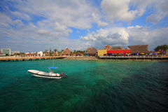 Cozumel pier Royalty Free Stock Images