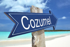 Cozumel sign. On the beach Stock Photography