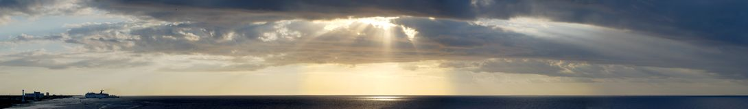 Cozumel Sky. The panoramic view of dramatic skyline near Cozumel island, Mexico Stock Images