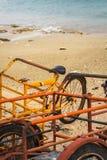Cozumel strandcykel Royaltyfri Foto