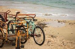 Cozumel strandcykel Royaltyfria Foton